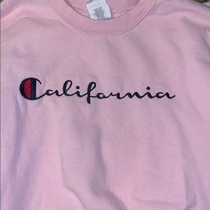 Sweaters - California pink sweatshirt